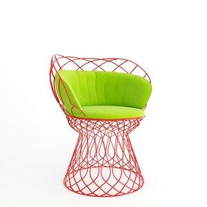 3d chair trouve model