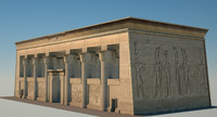 egyptian temple 3d c4d