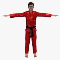 karate male 3d model