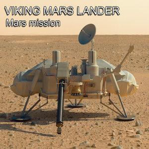 mars viking lander 3d 3ds
