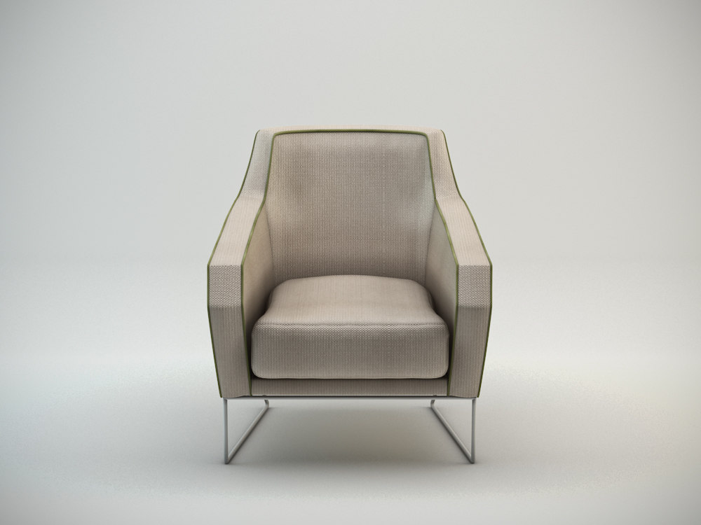 croix armchair mambo 3d model
