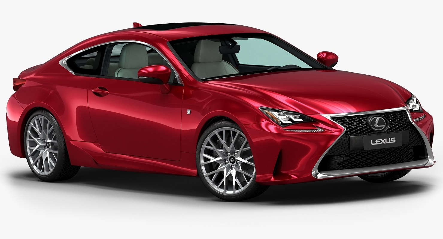 3d model 2015 lexus rc