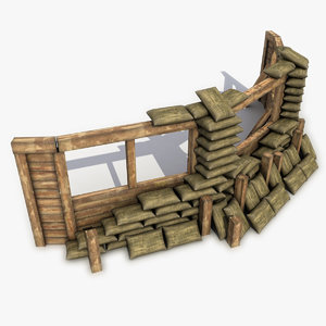 3ds max fortification sandbags