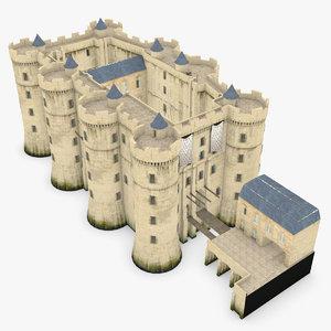 castle bastille 3d model