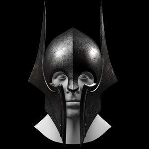 3d model dark knight helmet