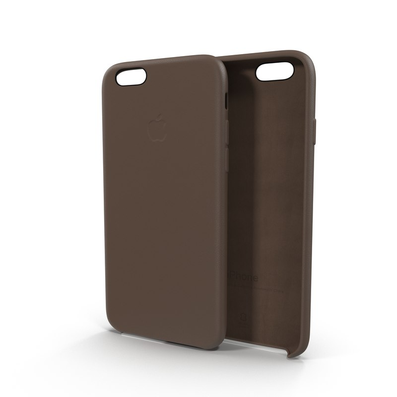 iphone 6 leather case 3d model