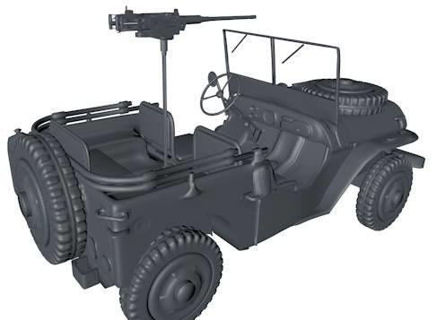 dxf willys army jeep