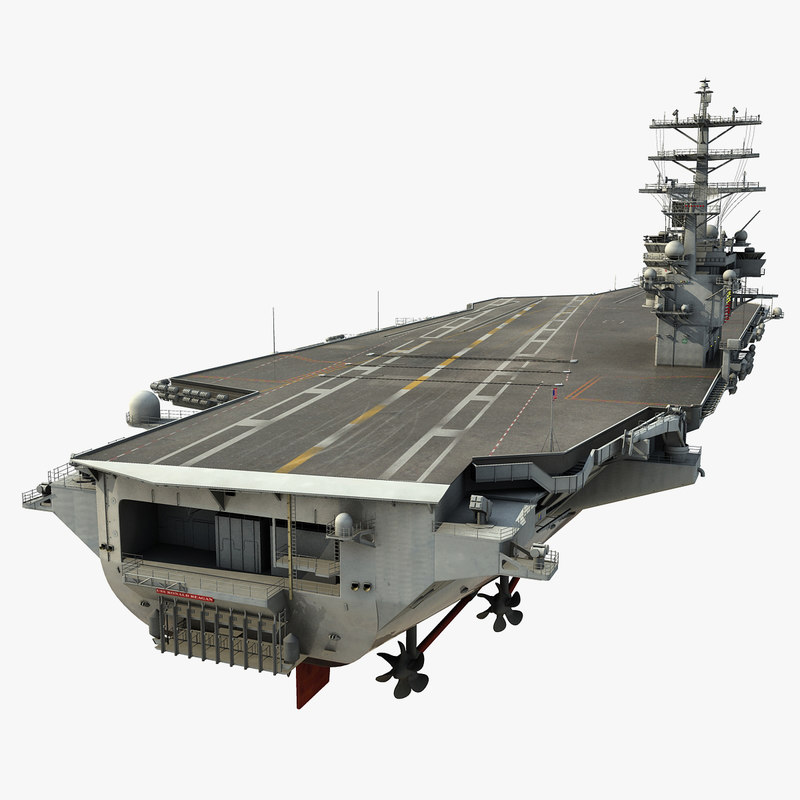 uss ronald reagan cvn-76 3d model