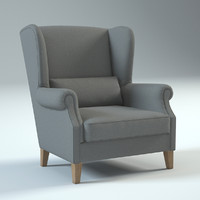 charcoal graham chair 3d model