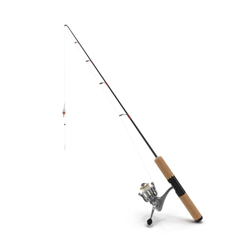 fishing pole generic obj