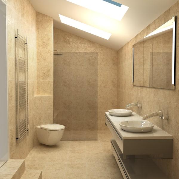 3d obj modern contemporary room