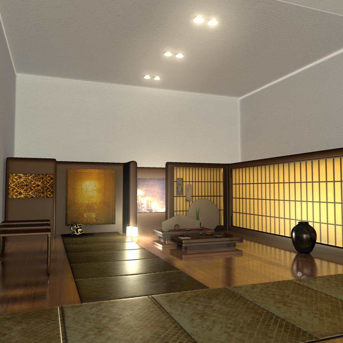 Japanese Tea House Interior