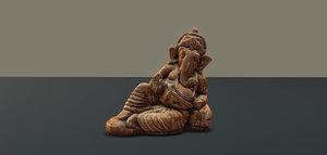 ganesha statuette 3d model