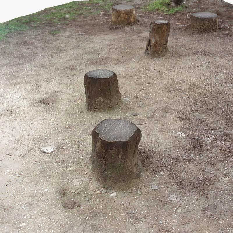 terrain 7 - stumps 3d 3ds
