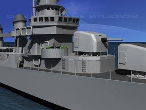 lwo anti-aircraft fletcher class destroyers