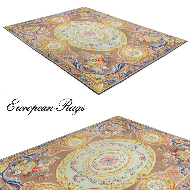 french aubusson rug 3d model