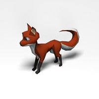 Anime Fox Low Poly