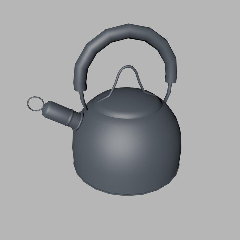 3d model of kettle tea water