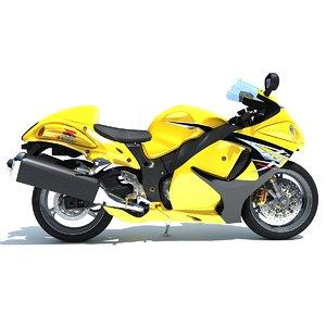 3d model suzuki hayabusa motorcycle