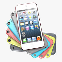 ipod touch set modeled 3d model