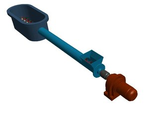 3d screw conveyor model