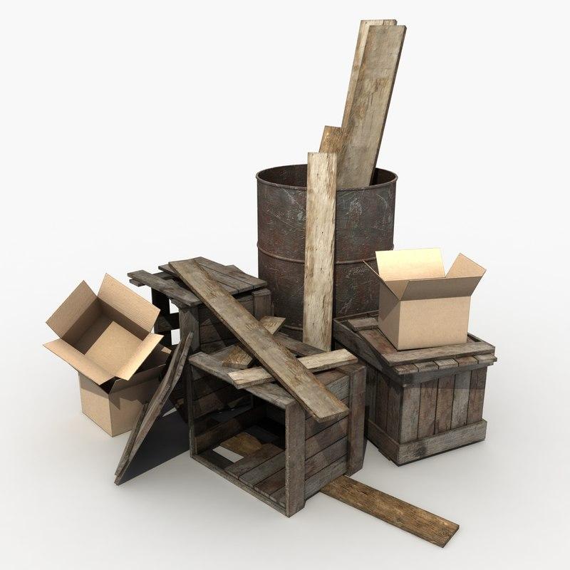 debris modeled 3d model