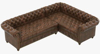 Restoration Hardware Cambridge Leather Customizable Sectional
