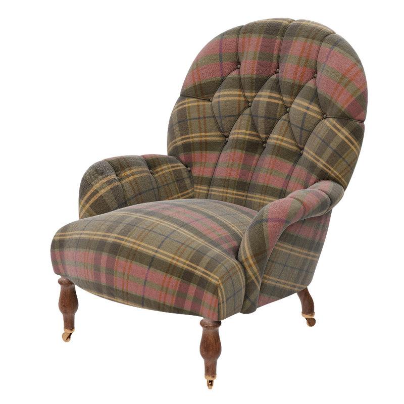 3ds max armchair harrington