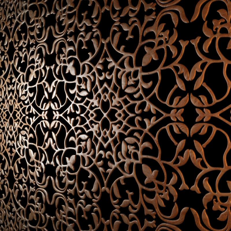 wood decorative ceiling 3d model