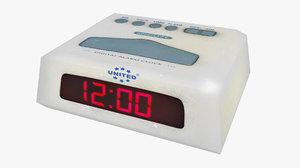 blender clock low-poly