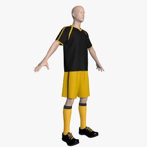 soccer uniform 3d max