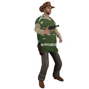 3d rigged cowboy hat