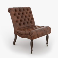 Pottery Barn Carolyn Tufted Leather Chair