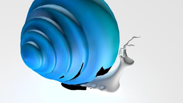 snail shell 3d max