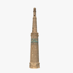 minaret jam afghanistan modeled 3d model