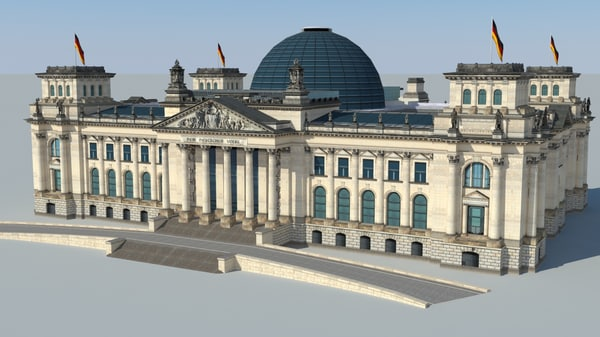 3d model reichstag building