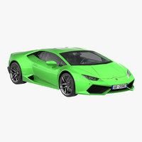 3d lamborghini huracan rigged model