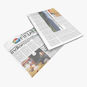 obj newspaper modeled realistic