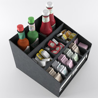 Condiment Organizer with Napkin Dispenser Slot 02