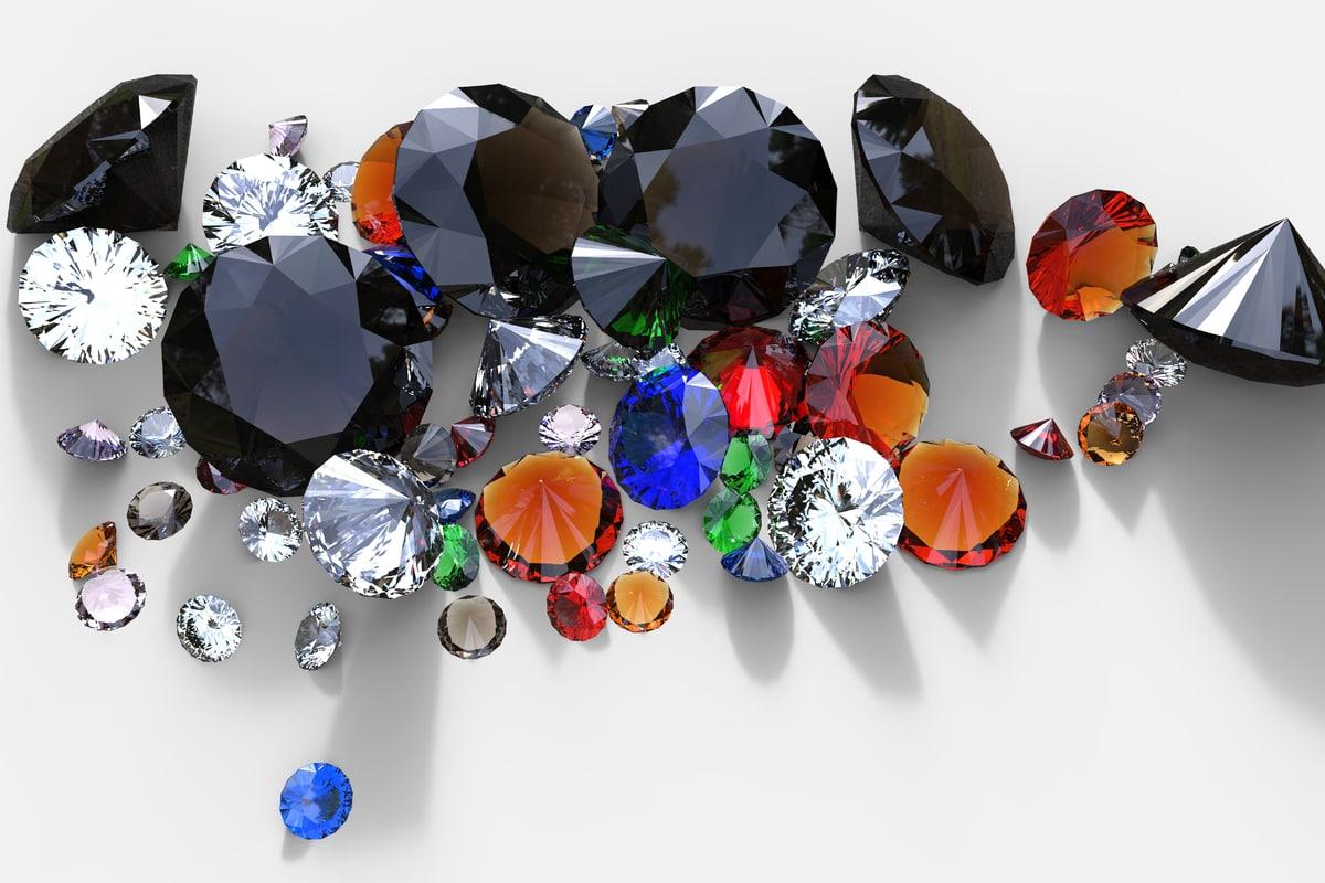 3d diamond gemstone stone