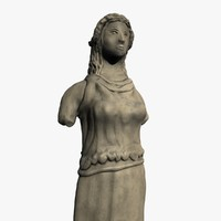 c4d ancient statue
