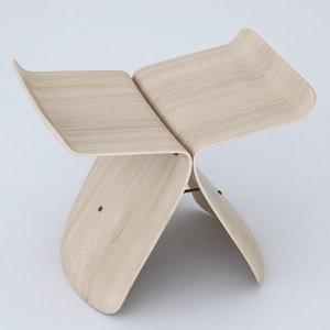 3dsmax vitra butterfly stool