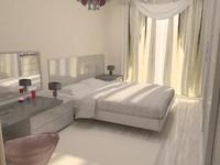 3d model sliding door bedroom