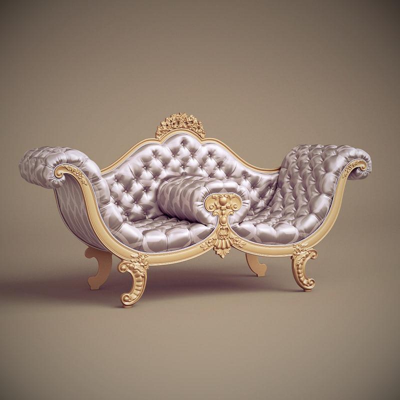 3d model of jc hermes sofa nap-72