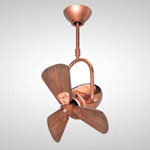 3d retro ceiling fan