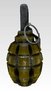3d model soviet grenade