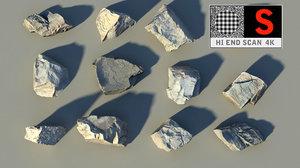 rady boulders rocks scan 3d obj