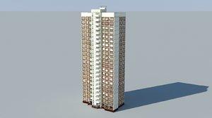 soviet civil building 3ds