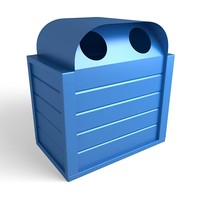 trash cans 3d 3ds