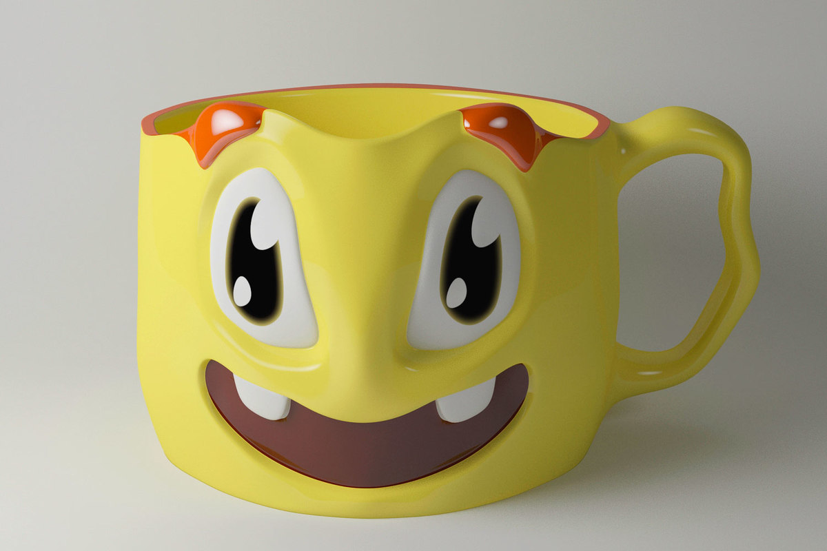 3d personalized ceramic cup model